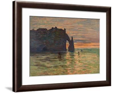 Coucher de Soleil a Etretat-Claude Monet-Framed Giclee Print