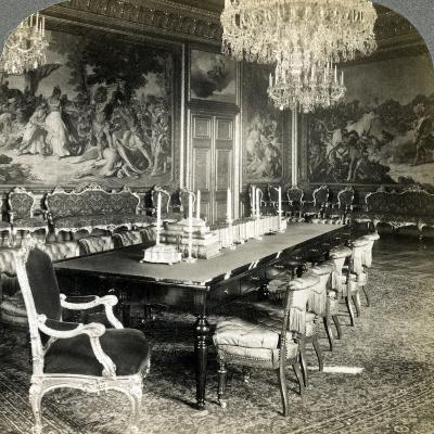 Council Chamber of King Oscar II, Royal Palace, Stockholm, Sweden-Underwood & Underwood-Photographic Print