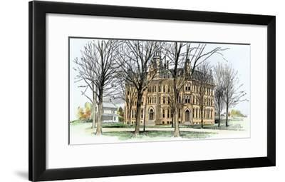 Council Hall at Oberlin College, 1890s--Framed Giclee Print