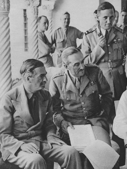 'Council of War in Algiers: Mr Churchill with his Captains', 1943-Unknown-Photographic Print