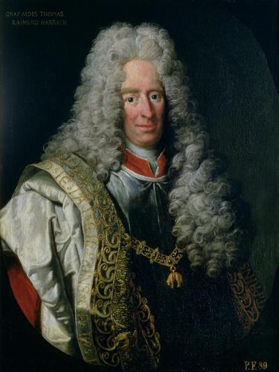 Count Alois Thomas Raimund Von Harrach, Viceroy of Naples (1669-1742)-Johann Gottfried Auerbach-Giclee Print