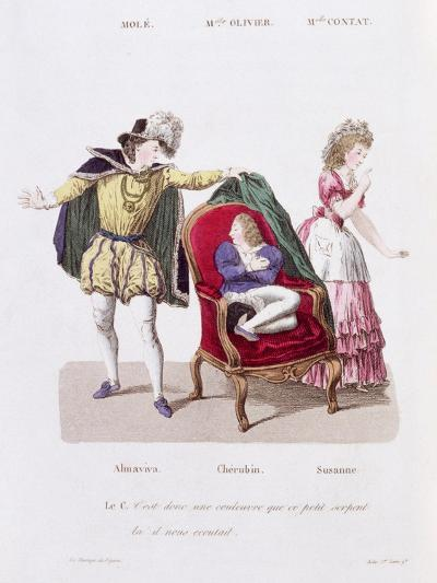 Count Discovers Cherubin, The Marriage of Figaro by Pierre Augustin Caron de Beamarchais--Giclee Print