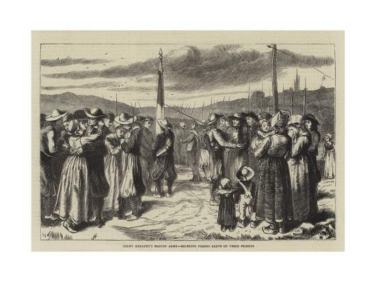 Count Keratry's Breton Army, Recruits Taking Leave of their Friends--Giclee Print