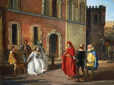 Count Lantieri De Paratico Introducing Dante During His Visit to Bornato Castle--Giclee Print