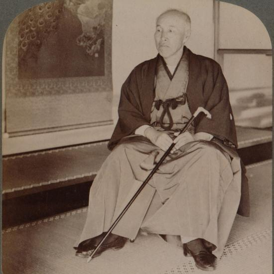 'Count Okuma, Ex-Minister of Foreign Affairs, at home, Tokyo, Japan', 1904-Unknown-Photographic Print