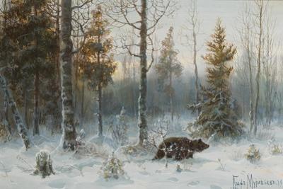 Winter Landscape with Bear, 1907 by Count Vladimir Leonidovich Muravyov