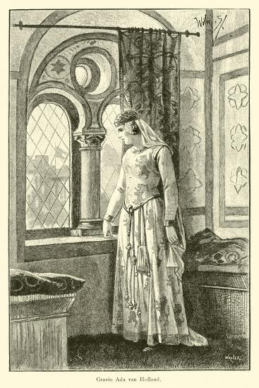 Countess Ada of Holland-Willem II Steelink-Giclee Print