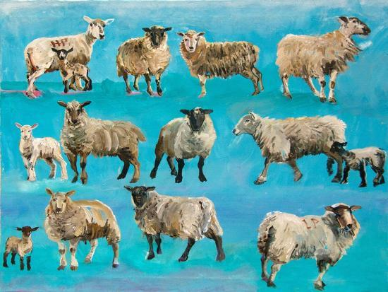 Counting Sheep-Alex Williams-Giclee Print