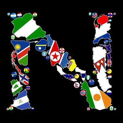 Countries Of N-Tonygers-Art Print