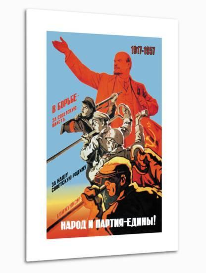 Country and Party First-Victor Ivanov-Metal Print