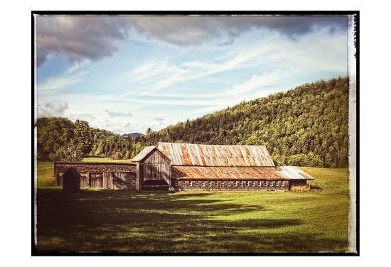 Country Barn 3 Vintage-Suzanne Foschino-Art Print