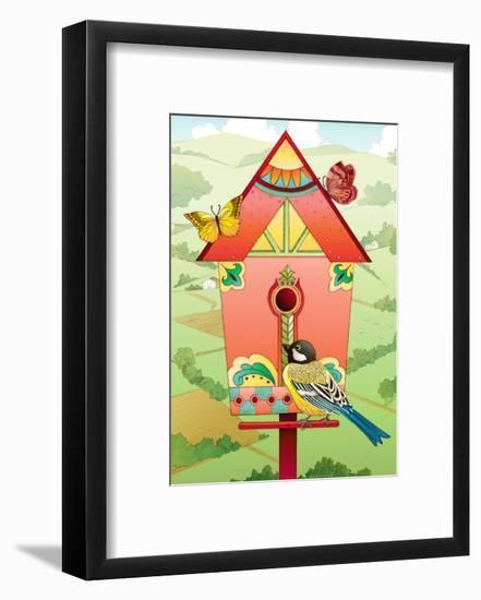 Country Birdhouse-Julie Goonan-Framed Giclee Print