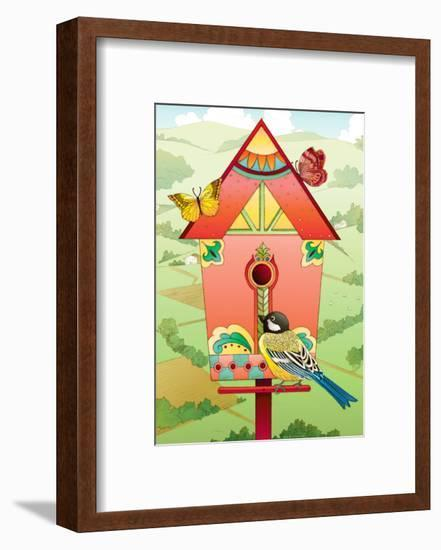 Country Birdhouse-Julie Goonan-Framed Giclee Print