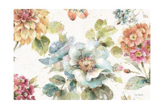 Country Bloom I-Lisa Audit-Art Print