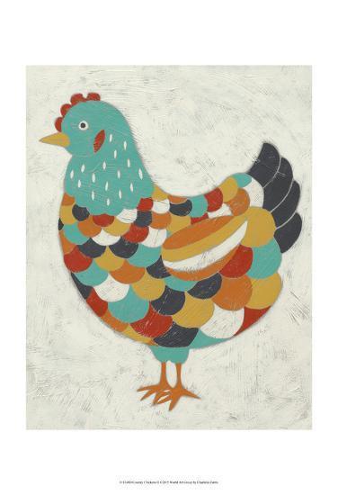 Country Chickens II-Chariklia Zarris-Art Print