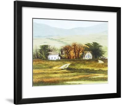 Country Church-Miguel Dominguez-Framed Premium Giclee Print