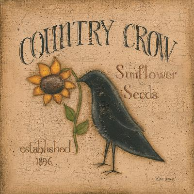 Country Crow-Kim Lewis-Art Print