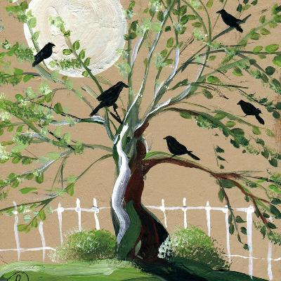 Country Crows-sylvia pimental-Art Print