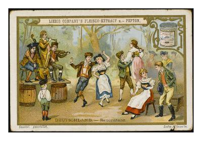Country Dance in a German Village--Giclee Print