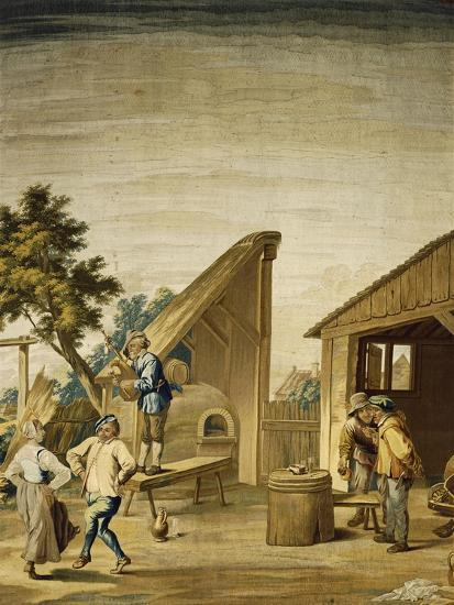 Country Dance Tapestry Based on Cartoon by David Teniers the Younger--Giclee Print