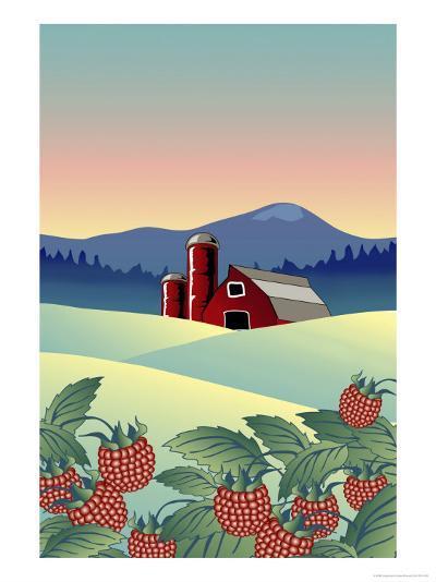 Country Farm-Linda Braucht-Giclee Print