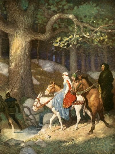 Country Folk Wending their Way to the Tourney-Newell Convers Wyeth-Giclee Print