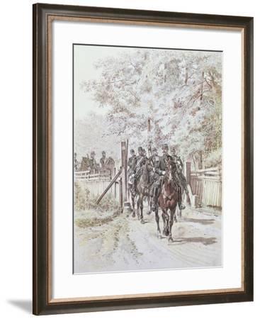 Country Gendarmerie, C.1887--Framed Giclee Print