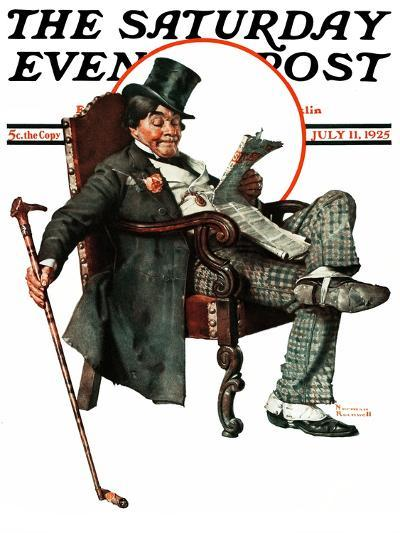 """""""Country Gentleman"""" Saturday Evening Post Cover, July 11,1925-Norman Rockwell-Giclee Print"""