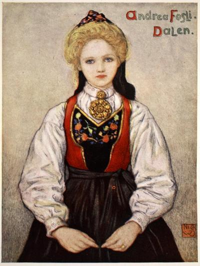 Country Girl from Dalen, 1905-Nico Jungman-Giclee Print