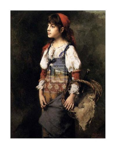 Country Girl-Alexei Alexeivich Harlamoff-Art Print