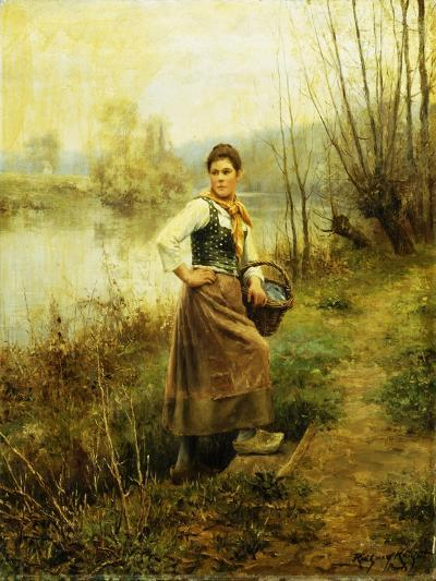 Country Girl-Daniel Ridgway Knight-Giclee Print