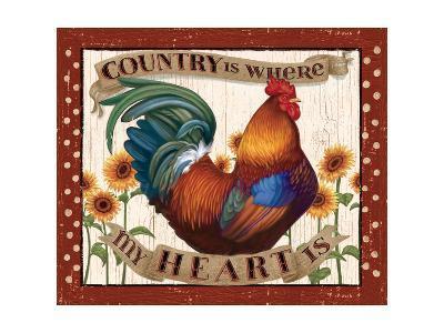 Country Heart I Dots v2-Janelle Penner-Art Print