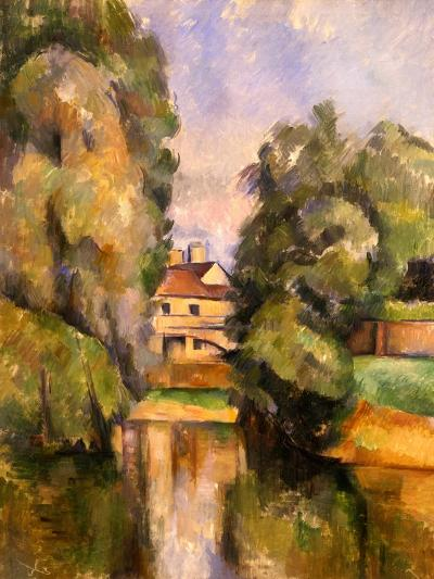 Country House by the Water, C.1888-Paul C?zanne-Giclee Print