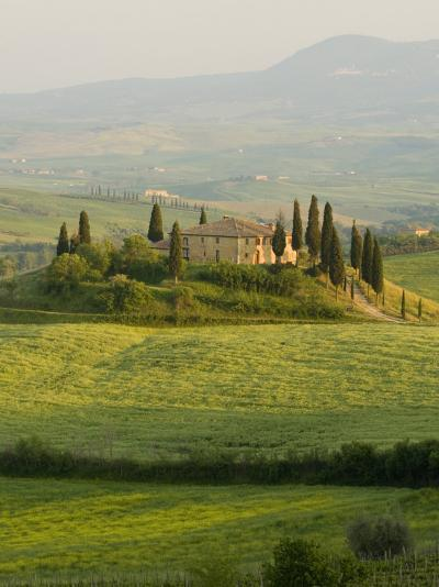 Country House, Il Belvedere, San Quirico D'Orcia, Val D'Orcia, Siena Province, Tuscany, Italy-Pitamitz Sergio-Photographic Print
