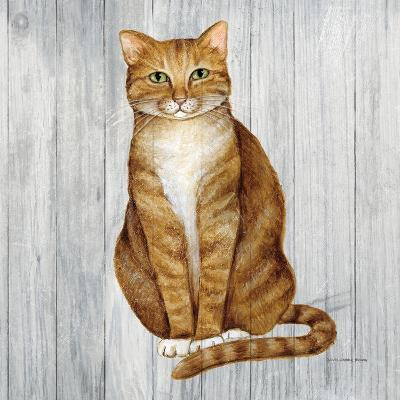 Country Kitty II on Wood-David Cater Brown-Art Print