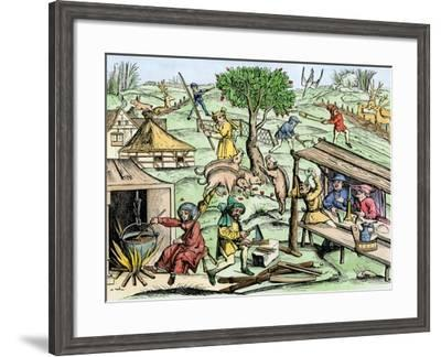 Country Life in France in the Late Middle Ages--Framed Giclee Print
