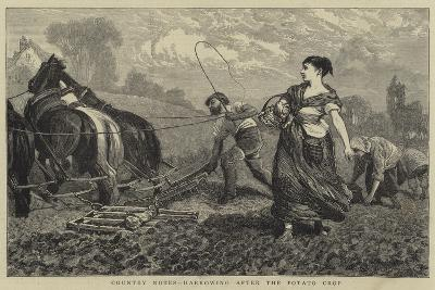 Country Notes, Harrowing after the Potato Crop-William III Bromley-Giclee Print