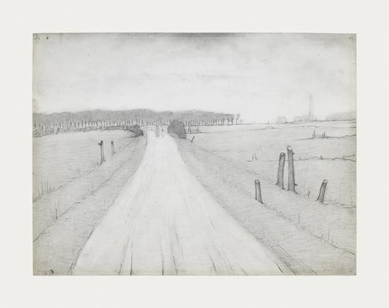 Country Road, 1925-Laurence Stephen Lowry-Premium Giclee Print