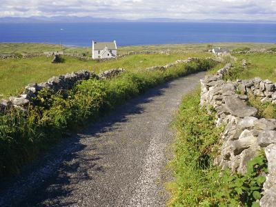 Country Road, Inishmore, Aran Islands, County Galway, Connacht, Republic of Ireland (Eire), Europe-Ken Gillham-Photographic Print