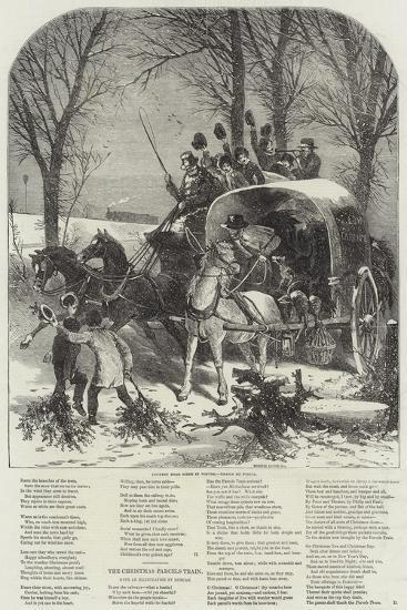 Country Road Scene in Winter-Myles Birket Foster-Giclee Print