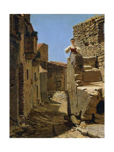 Country Road with Ruins-Filippo Palizzi-Giclee Print