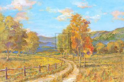 Country Road-Michael Longo-Art Print