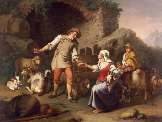 Country Scene-Francesco Londonio-Giclee Print