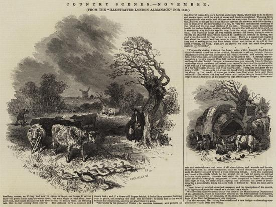 Country Scenes, November--Giclee Print