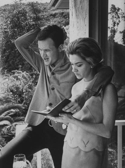 Country Singer Roger Miller and His Wife at Home-Ralph Crane-Premium Photographic Print