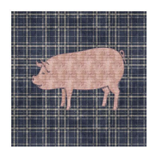 Country Style Pig-BG^Studio-Art Print