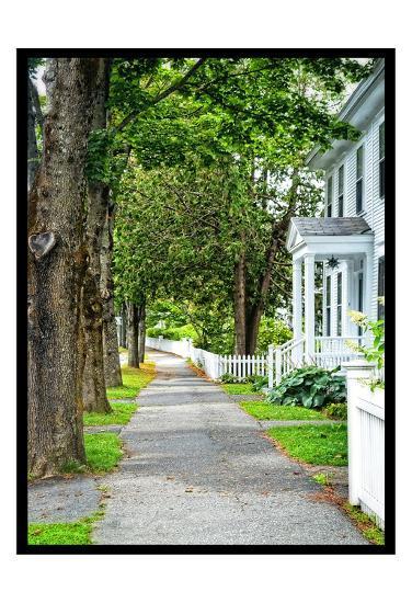 Country Town Sidewalk-Suzanne Foschino-Art Print
