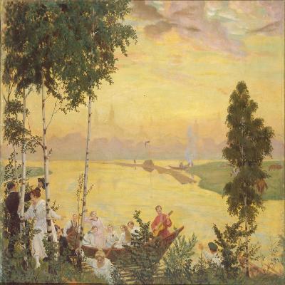 Country Trip, 1918-Boris Michaylovich Kustodiev-Giclee Print