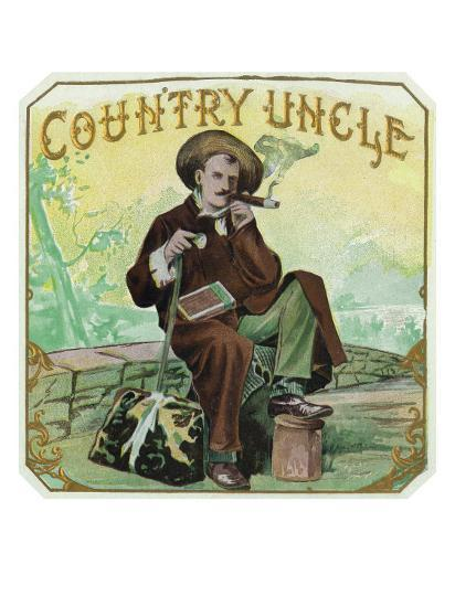 Country Uncle Brand Cigar Box Label-Lantern Press-Art Print