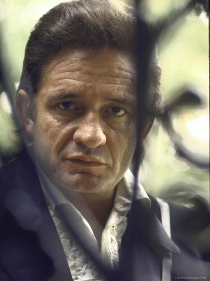Country/Western Singer Johnny Cash-Michael Rougier-Premium Photographic Print